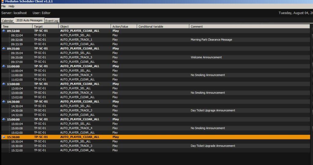 Medialon Show Control Programming