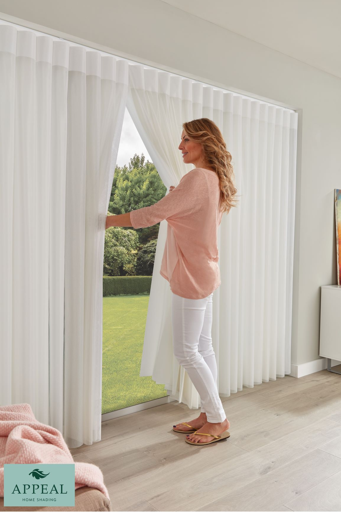Home Shading Blind Finestra Horizon Pewter Sheer