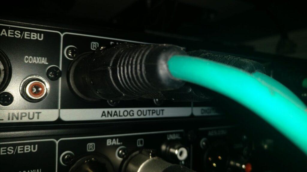 Custom made bespoke audio leads XLR